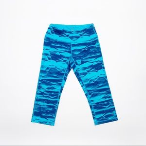 Z BY ZELLA Teal Blue Cropped Leggings, Extra Small